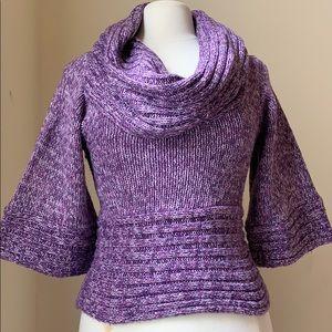 BeBe Women's knit slouchy neck sweater